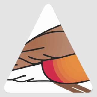 Sticker Triangulaire rouge-merle