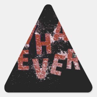 Sticker Triangulaire Rouge quoi que