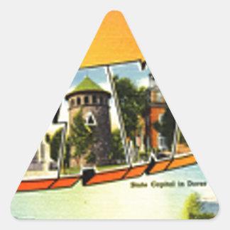 Sticker Triangulaire Salutations du Delaware