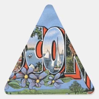 Sticker Triangulaire Salutations du Wisconsin