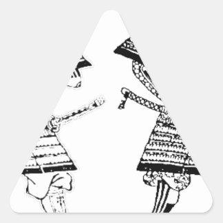 Sticker Triangulaire Samouraï