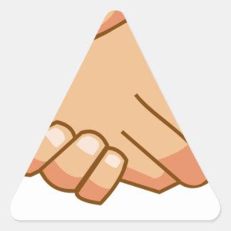 Sticker Triangulaire Se serrer la main