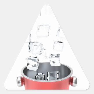 Sticker Triangulaire Seau à glace