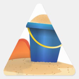Sticker Triangulaire Seau de sable