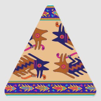 Sticker Triangulaire Serpent de tribal d'Inca