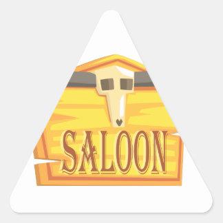 Sticker Triangulaire Signe de salle avec le dessin de tête morte