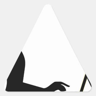 Sticker Triangulaire Silhouette femelle d'ordinateur