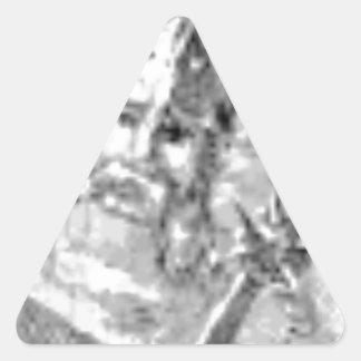 Sticker Triangulaire soldat barbu