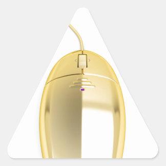 Sticker Triangulaire Souris d'or d'ordinateur