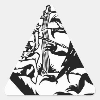 Sticker Triangulaire St George