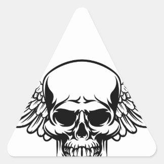 Sticker Triangulaire Style à ailes de gravure sur bois gravé par cru en