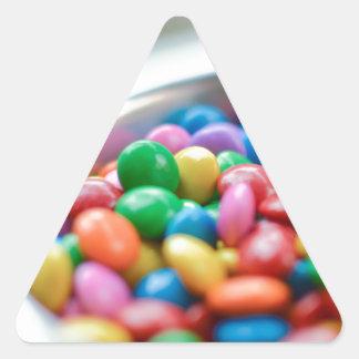 Sticker Triangulaire sucrerie colorée