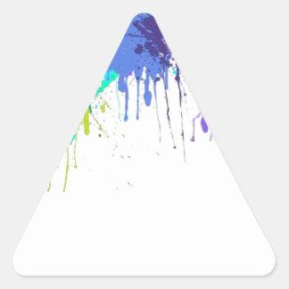 Sticker Triangulaire sujets d'éclaboussure de paintball