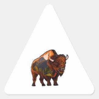 Sticker Triangulaire Sur la prairie