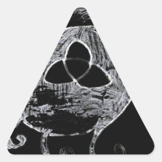 Sticker Triangulaire symbole wiccan pour les sorcières
