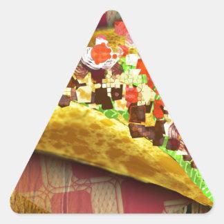 Sticker Triangulaire Taco de pixel