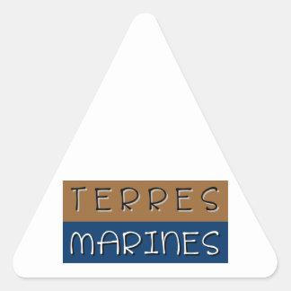 Sticker Triangulaire Terres marines