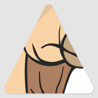 Sticker Triangulaire Tête de chameau