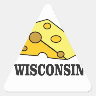 Sticker Triangulaire Tête de fromage du Wisconsin
