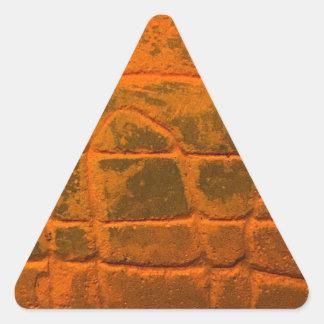 Sticker Triangulaire Texture orange patinée