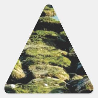 Sticker Triangulaire texture verte de bloc