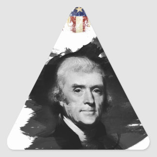 Sticker Triangulaire Thomas Jefferson