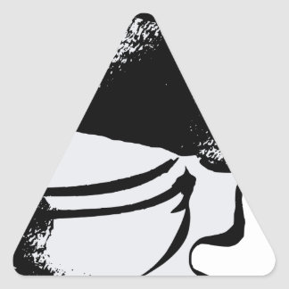 Sticker Triangulaire Toilette
