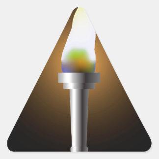Sticker Triangulaire Torche