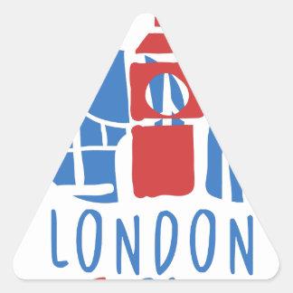 Sticker Triangulaire Tourisme de Londres