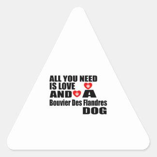 Sticker Triangulaire Tous vous avez besoin de la conception de chiens