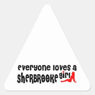 Sticker Triangulaire Tout le monde aime une fille de Sherbrooke