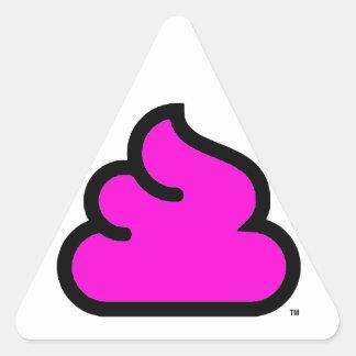 Sticker Triangulaire triangolo Merda Fluorescente