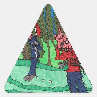 Sticker Triangulaire Trou dans un