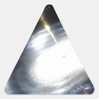 Sticker Triangulaire trou noir