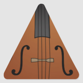 Sticker Triangulaire Un dessin de violoncelle