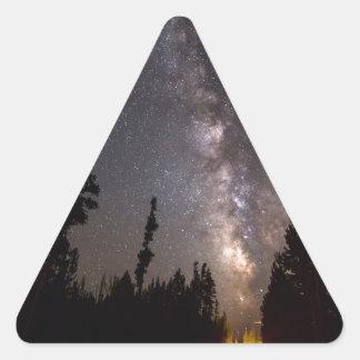 Sticker Triangulaire Une expérience céleste