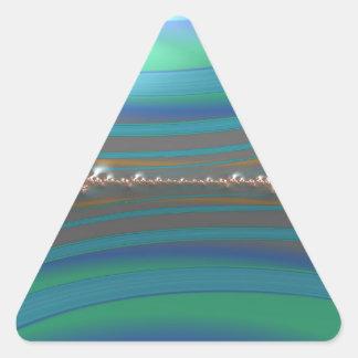 Sticker Triangulaire une fractale plus désinvolte de lierre