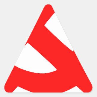 Sticker Triangulaire Union Soviétique primitive CCCP de marteau et de