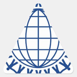 Sticker Triangulaire Unissez autour du monde