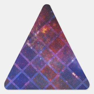 Sticker Triangulaire Univers de bloc