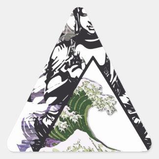 Sticker Triangulaire vague 2 de Bouddha