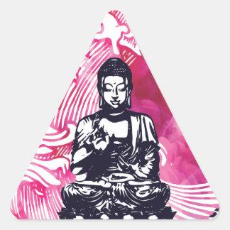 Sticker Triangulaire Vague de Bouddha d'ouragan