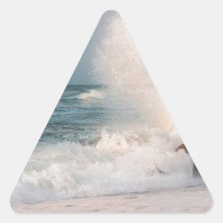 Sticker Triangulaire Vague se brisante