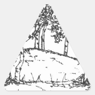 Sticker Triangulaire Verger d'Aspen