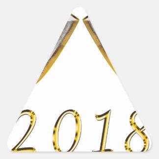 Sticker Triangulaire Verres 2018 de Champagne