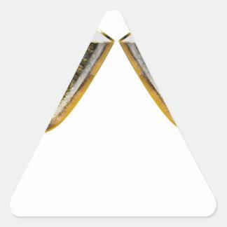 Sticker Triangulaire Verres de Champagne