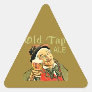 Sticker Triangulaire Vieille bière anglaise de robinet