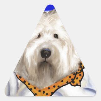 Sticker Triangulaire Vieux chien de moutons anglais