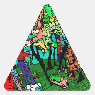 Sticker Triangulaire Vignoble