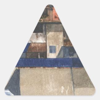 Sticker Triangulaire Village vertical @ Phnom Penh